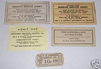 Vintage Gooding Amusement Park Ride Ticket & Pass Lot